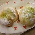 抹茶&ホワイトチョコのパテ入りパン