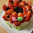息子くん16歳のバースデーケーキ
